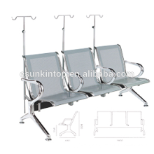 Hospital chair for commerical used, Aluminum armrest and legs three seater design (KS3BB-3)