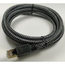 Cable de nailon de red LAN Ethernet Cat8 de alta velocidad