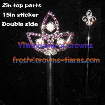 Purple Diamond Crystal Scepter