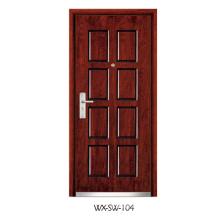 Expert Supplier Steel Wooden Door (WX-SW-104)