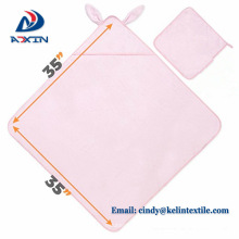 2018 hot sale summer 89x89cm cotton embroidery logo baby towel with hood