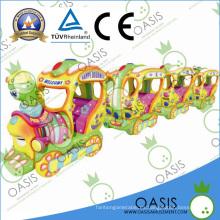 El nuevo paseo manual de los niños del tren travieso 2014 en el coche / la moneda funcionó la máquina del paseo de los cabritos