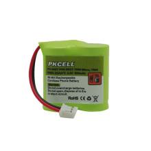 Bateria sem fio do telefone Nimh 2 / bateria de 3AA 600mah 2.4V