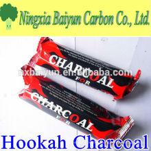 Carvão de caramelo de madeira natural de madeira de alta qualidade de 33 mm Shisha