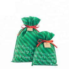 Saco não tecido verde do presente da impressão feita sob encomenda do Natal