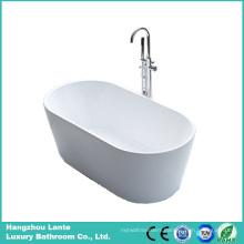 Corner Oval Shape Acrylic Soaking Fiberglass Freestanding Bathtub (LT-2B)