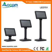 LED701 Hot 7 Inch LED Customer Monitor Display USB Serial Port