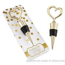 Bouchon de bouteille de coeur d'or