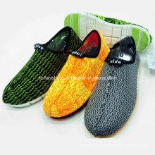 Novo Estilo Moda Masculina Slip-on Tecido Têxtil Calçados Esportivos Lazer Sapatos