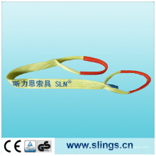 3t*1m Polyester Yellow Webbing Sling with Double Eye