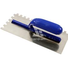 Hot Sale Plastic Handle Truelle en plâtre entaillée