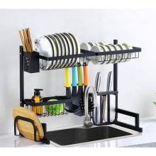 Foshan Factory Direct Sale Black Kitchen Accessories Rack Stainless Steel Kitchen Storage Baskets A-850