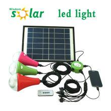 2015 portátil CE 9W led kit de energía solar luz con luz solar cargador de móvil (de la serie JR-SL988)