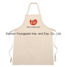 Lona de algodón impresa personalizada Delantal de cocina divertida con bolsillos