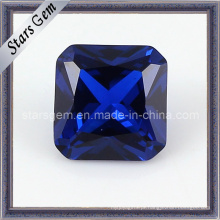 Encantar forma quadrada Asscher Cut 34 # Sapphire Corindo