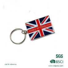 Günstige Qualität UK Flag Emaille Schlüsselanhänger für Geschenk