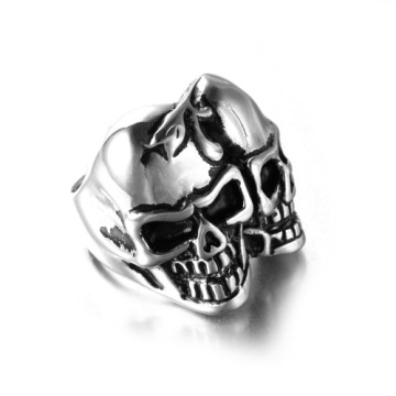 Two face stainless steel pirate Terminator ring