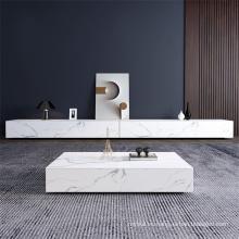 mueble de TV blanco crepuscular