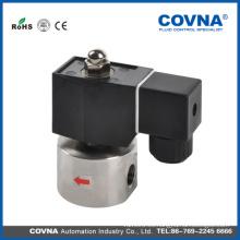 Nuevo producto Solenoide eléctrico 2WS025-08 de la válvula del agua Dos puertos 1/4, cerrado normalmente, VITON, válvula solenoide eléctrica 12v agua