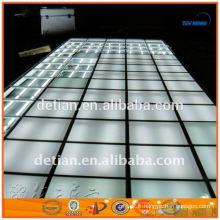 Le plancher augmenté d'exposition portative d'éclairage avec la plate-forme en verre pour le salon commercial