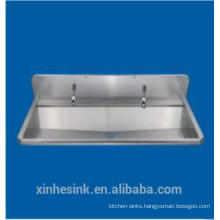 Stainless Steel Commercial Large Pedestal 2 Two Person Hand Washing Trough