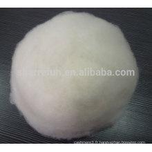 100% pure fibre de cachemire chinois épilé blanc 16.0mic