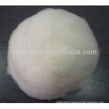 100% pure dehaired Chinese cashmere fiber white 16.0mic