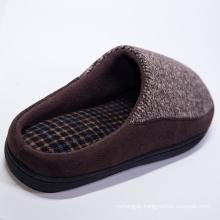 Hot Selling High Quality Custom Logo Men Home Sude Woolen Yarn Indoor Flat Heel Slippers