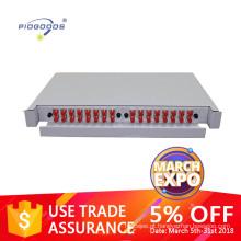 PG-ODF2042 rack de 19 polegadas montado pull-out caixa de fibra óptica caixa de terminais.12-96cores, material de metal