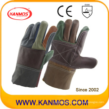 Rainbow Cowhide Furniture Leather Industrial Work Safety Gloves (31011)