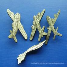 Pin plano do lapela da liga do zinco, emblema chapeado ouro (GZHY-BADGE-028)