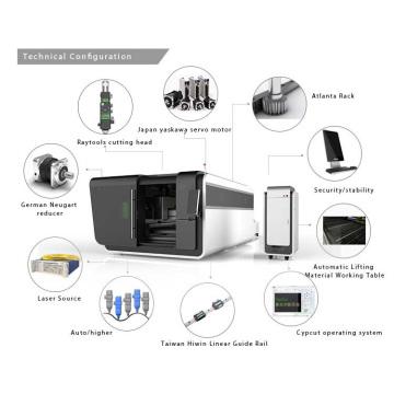 Máquina de corte a laser de fibra metálica única