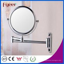 Fyeer lado duplo dobrável espelho de maquiagem parede montada (m0108)