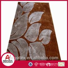 Tapis de moquette velouté en peluche 100% polyester Tapis uni shaggy