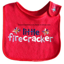 OEM Produce Customized Logo Embroidered Cotton Terry Baby Drool Feeder Bibs
