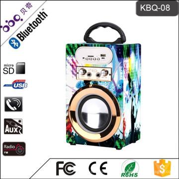 Altavoz de Karaoke Recargable Portátil Supersónico con USB / SD / AUX-IN / Radio FM