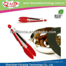 China Resistente al calor Precio de fábrica Metal & Silicone Grill Tongs