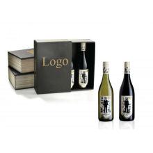 Nova caixa de vinho de design de papelão para embalagem de garrafa única
