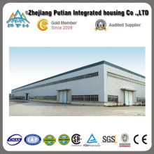 2015 grand entrepôt adapté aux besoins du client de structure métallique de grande envergure avec l'installation facile