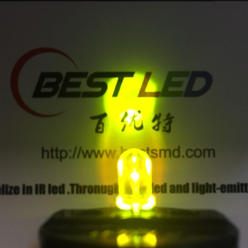 Super Bright 570nm LED 5mm jaune-vert LED 45 degrés