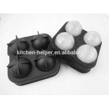 Moldes de gelo de silicone fácil de limpar personalizado molde de bola de gelo de silicone
