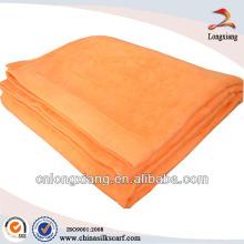 100% pure orange bamboo blankets