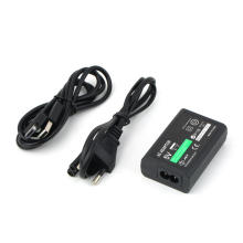 Plug da UE para Sony para PS Vita PSV Adaptador de alimentação CA Fornece o carregador de conversão + cabo de dados USB