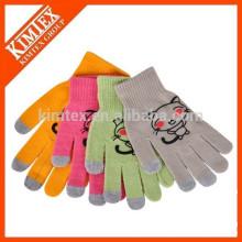 Женские перчатки для смартфонов, зимние акриловые трикотажные перчатки