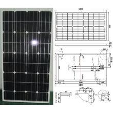 Módulo fotovoltaico monocristalino del panel solar de 18V 130W con el certificado de TUV ISO