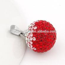 Delicate titanium steel 20 mm crystal ball jewelry pendants