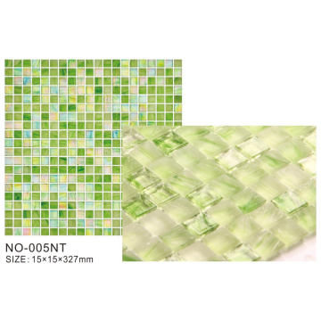 Azulejos de mosaico de la serie Hot Products Green Frosted Ice