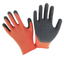 Hot Sale 13G Polyester Liner Crinkle Latex Coated Working Safety Gloves For Construction