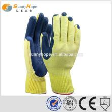 Sunnyhope gelb liner blau Sicherheit Industrial Latex Gummi Hand Handschuhe