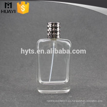 Aerosol de cristal de la botella de perfume del pulimento claro 100ml